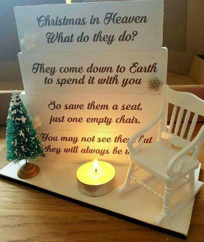 Il Natale senza di te , la malinconia e le assenze la sedia vuota tealight candela luce pensiero per chi non c'è più