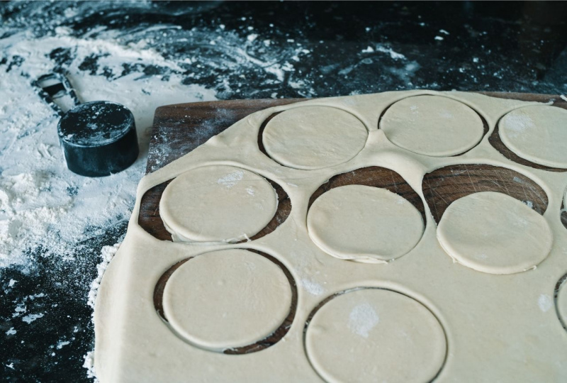 sfoglia pasta dischi farina coppa pasta