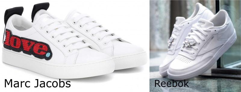Moda donna cosa comprare per rinnovare il guardaroba autunno inverno scarpe sneackers Marc Jobs bianche Reebok