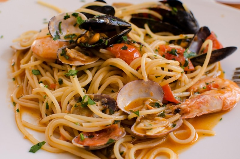 spaghetti allo scoglio piatto pronto