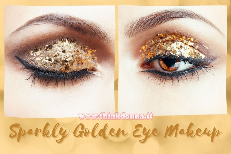 trucco occhi makeup natale occhi glitter oro golden