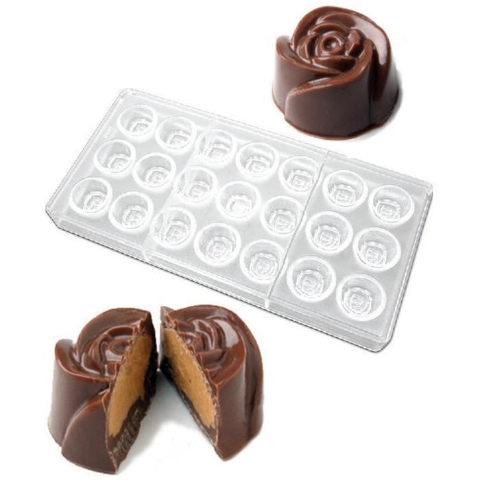 Come fare cioccolatini ripieni in casa stampo in silicone trasparente cioccolatino a forma di rosa farcito