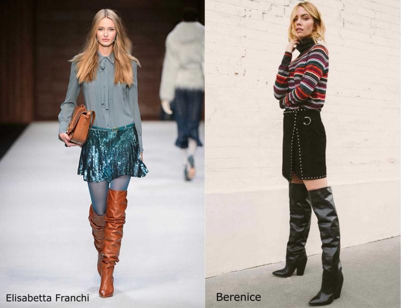 Moda donna cosa comprare per rinnovare il guardaroba autunno inverno stivali al ginocchio cuissades Elisabetta Franchi morbidi arricciati Berenice