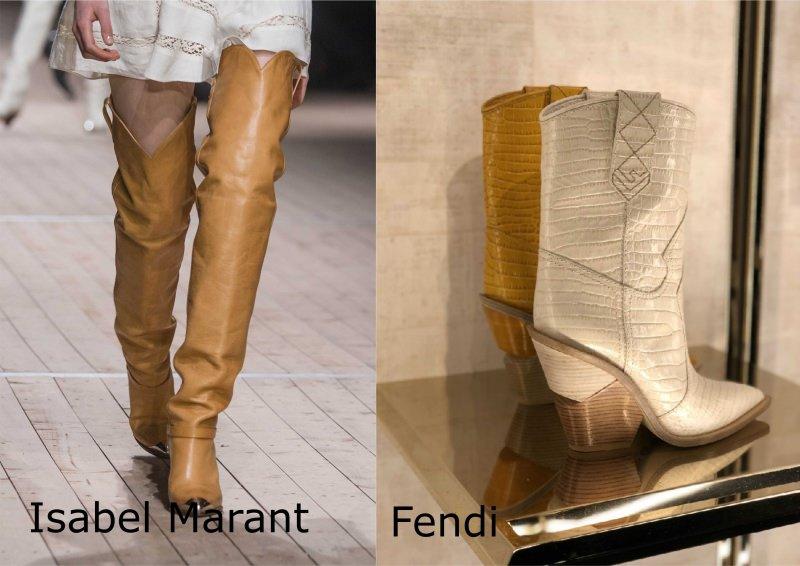 Moda donna cosa comprare per rinnovare il guardaroba autunno inverno stivali alti camperos western Isabel Marant stivali medi Fendi