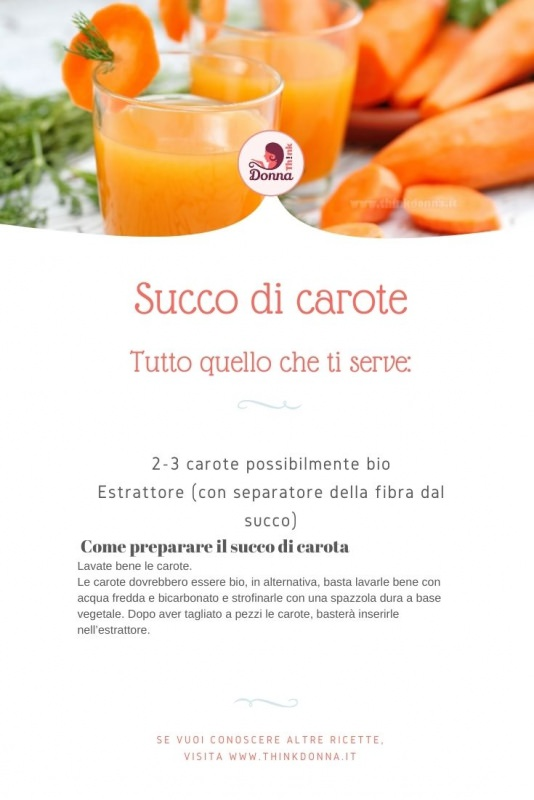 ricetta succo di carota ingredienti bicchiere di vetro