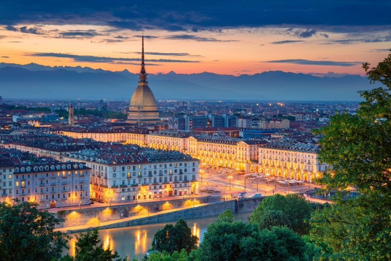 Torino tramonto Mole Antonelliana
