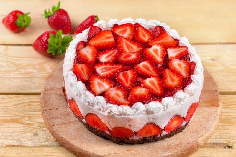 fraisier cake torta di fragole e panna festa della mamma