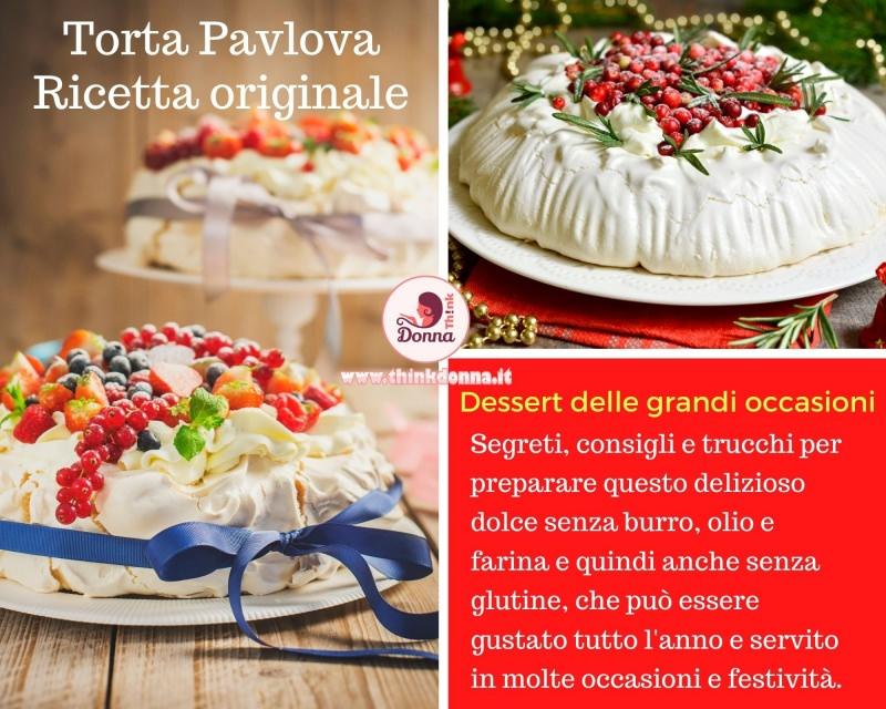 torta pavlova dolce meringa panna dessert natale
