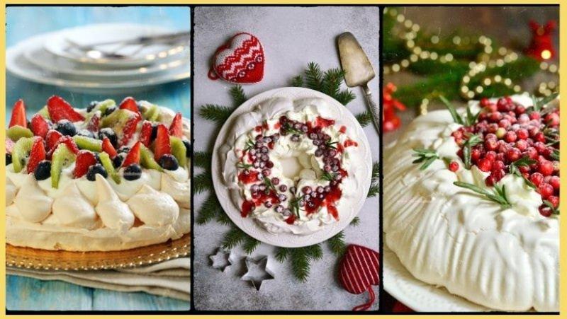torta pavlova dessert natale dolce mernga panna rutta fresca