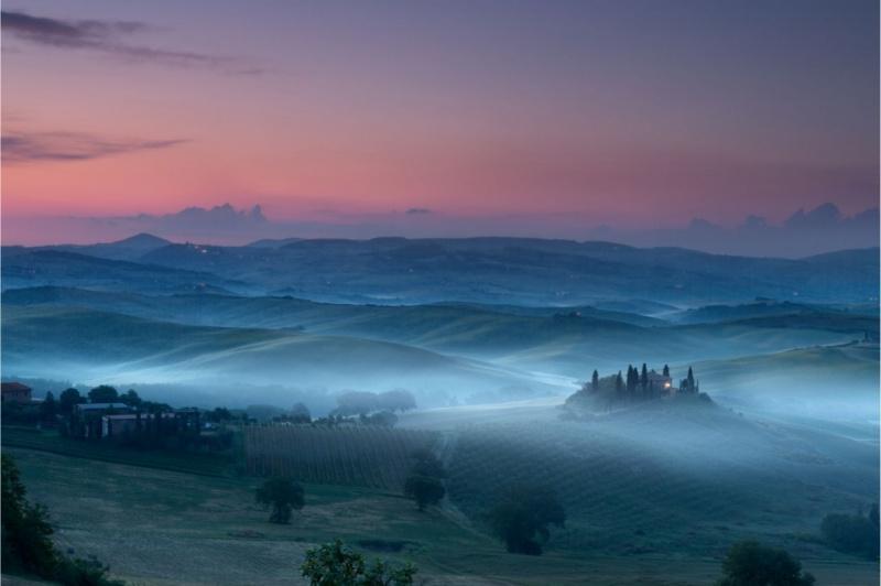 weekend romantico toscana borgo nebbia