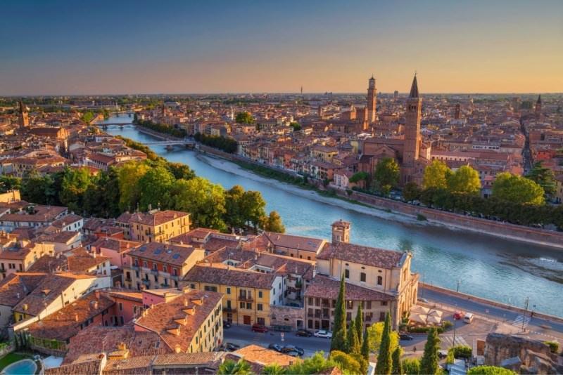 Verona tramonto