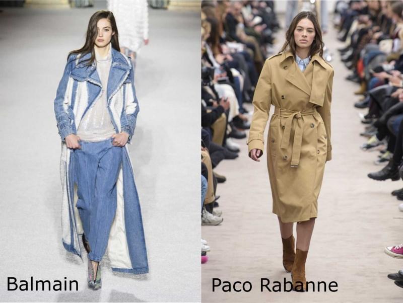 Moda donna cosa comprare per rinnovare il guardaroba autunno inverno trench lungo jeans denim pelliccia bianca Balmain beige classico Paco Rabanne stivaletti scamosciati