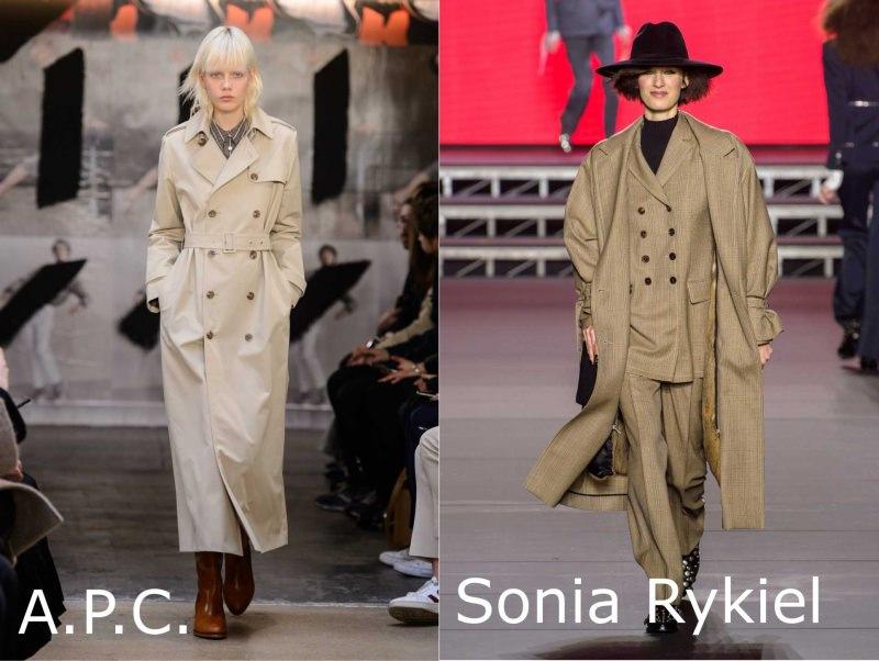 Moda donna cosa comprare per rinnovare il guardaroba autunno inverno trench classico lungo beige A.P.C. complto quadri tailleur doppio petto Sonia Rykiel cappello nero