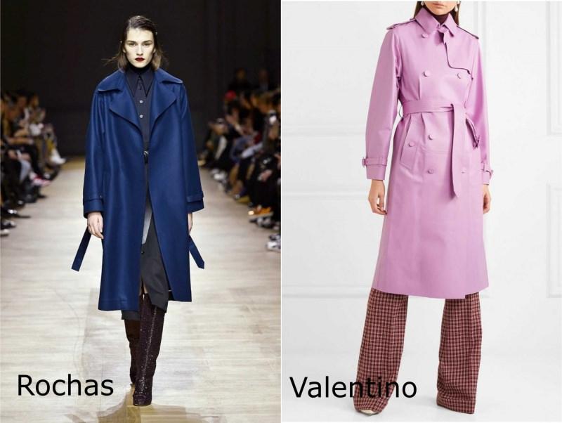 Moda donna cosa comprare per rinnovare il guardaroba autunno inverno trench blu Rochas classico rosa lilla Valentino pantalone quadri