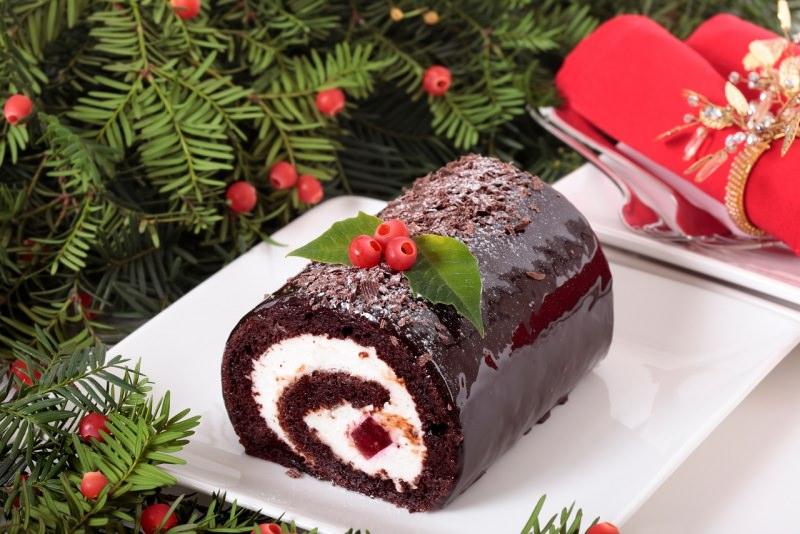 tronchetto di natale cioccolato Bûche de Noël au chocolat