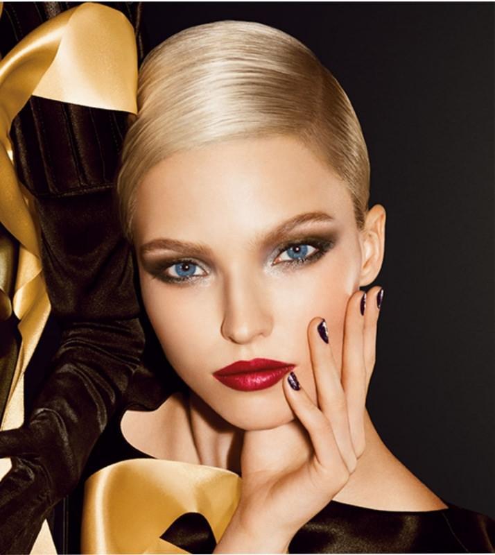 Idee trucco per Natale | Makeup natalizio oro