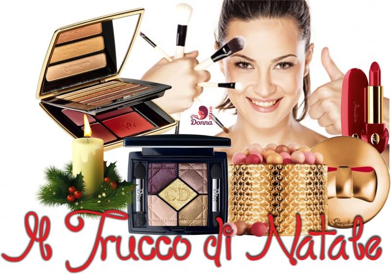 trucco natale makeup natalizio dior colezione guerlain oro viso donna occhi capelli castani pennelli trucco brush
