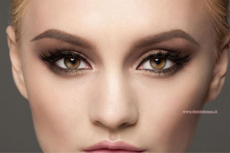 trucco occhi piccoli makeup eyes cerbiatta occhi verde marroni mascara