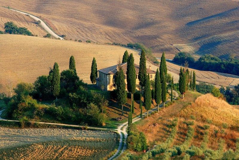 campagna valle viaggio toscana