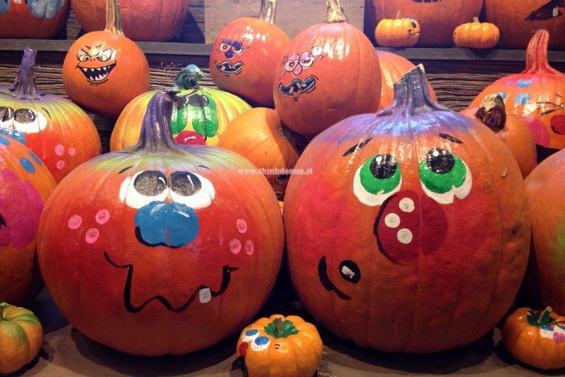zucche di halloween dipinte