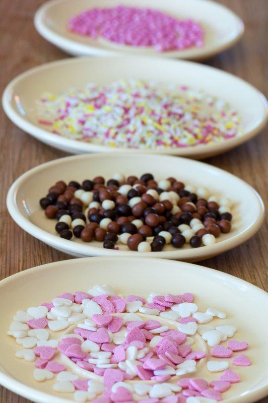 zuccherini colorati gocce cioccolato decorazione